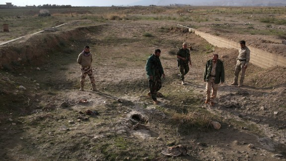 Another mass grave -- this believed to hold some of the victims from the slaughter of the Yazidis.
