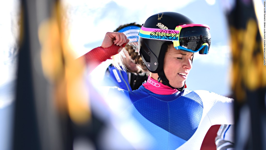 Gut can count on major support from her family: her mother organizes sponsors, her dad is her coach, and her younger brother doubles as best friend and skiing partner.