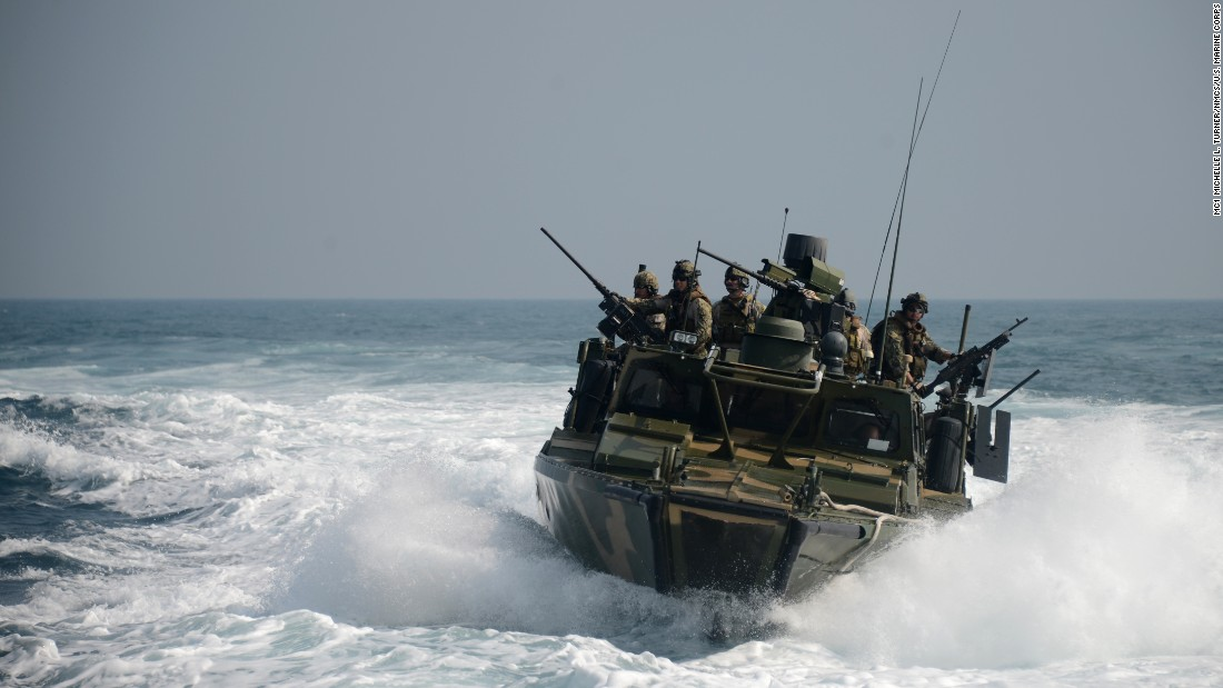 A training exercise takes place in the Persian Gulf in January 2014.