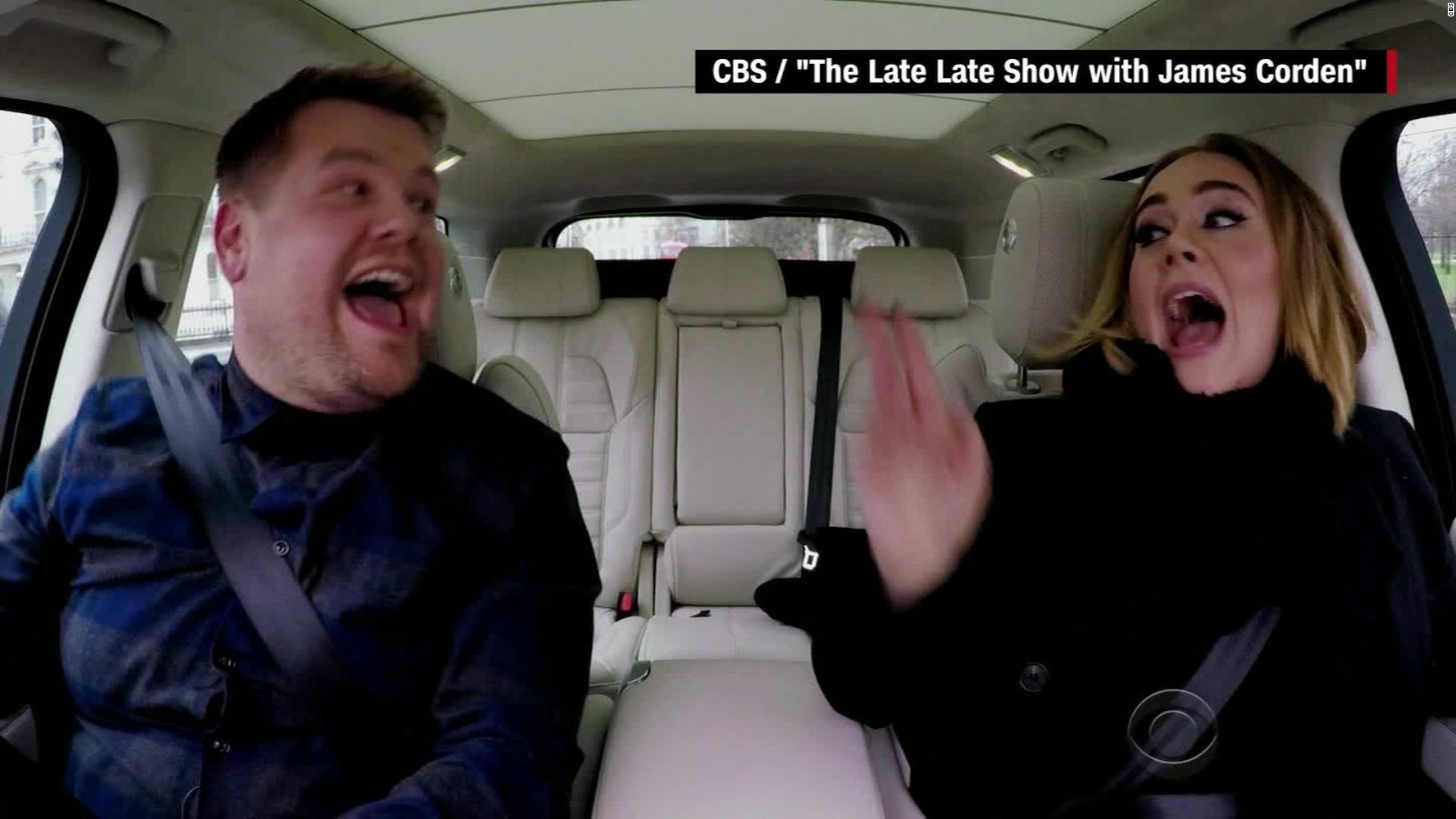 Adele Just Nailed Carpool Karaoke in This Late Late Show'Video