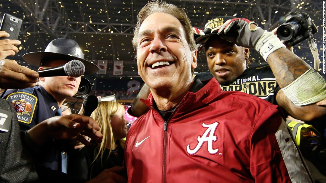 "Saban -- who has won five championships, four as coach of the Crimson Tide -- emphasizes a system he calls ""The Process,"" which focuses on mental toughness."