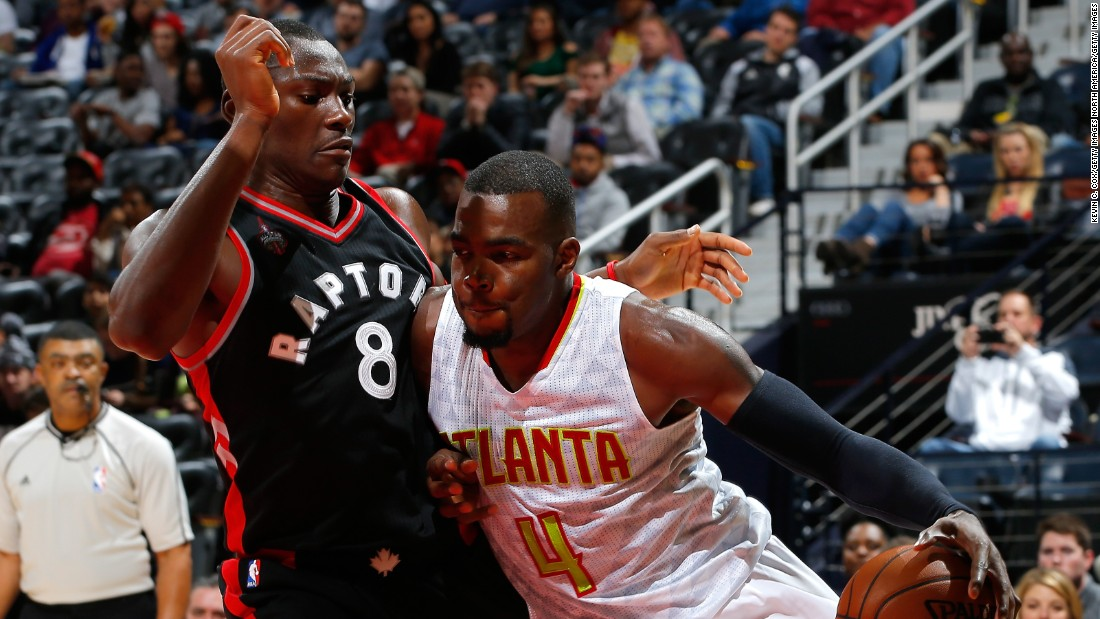 Raptors center Bismack Biyombo (#8), who was born in the Democratic Republic of the Congo, says that despite the weather, moving from Charlotte to Toronto was an easy transition for him.