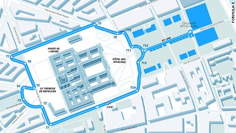 Paris ePrix: The recently revealed track is 1.93 kilometers long and includes 14 turns.