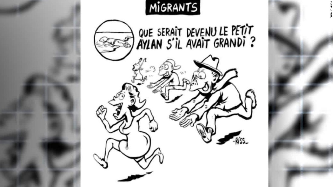 Outrage As Charlie Hebdo Depicts Alan Kurdi As Molester Cnn