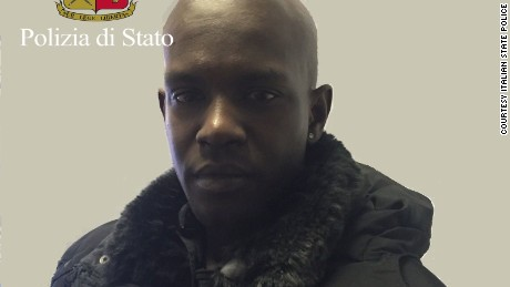 A photograph released by Italian police of suspect Cheikh Tidiane Diaw.