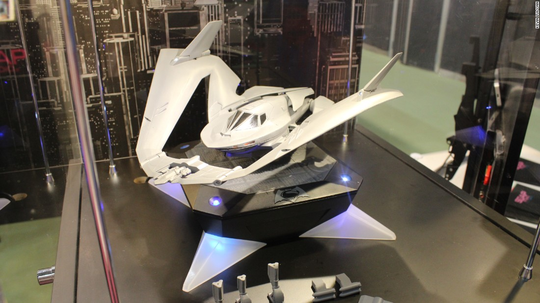 Inspired by Batman, this 'Batwing' scale model hangs suspended in the air by magnetic levitation. Intended as a collector's item for fans, it is expected to hit stores later this year.