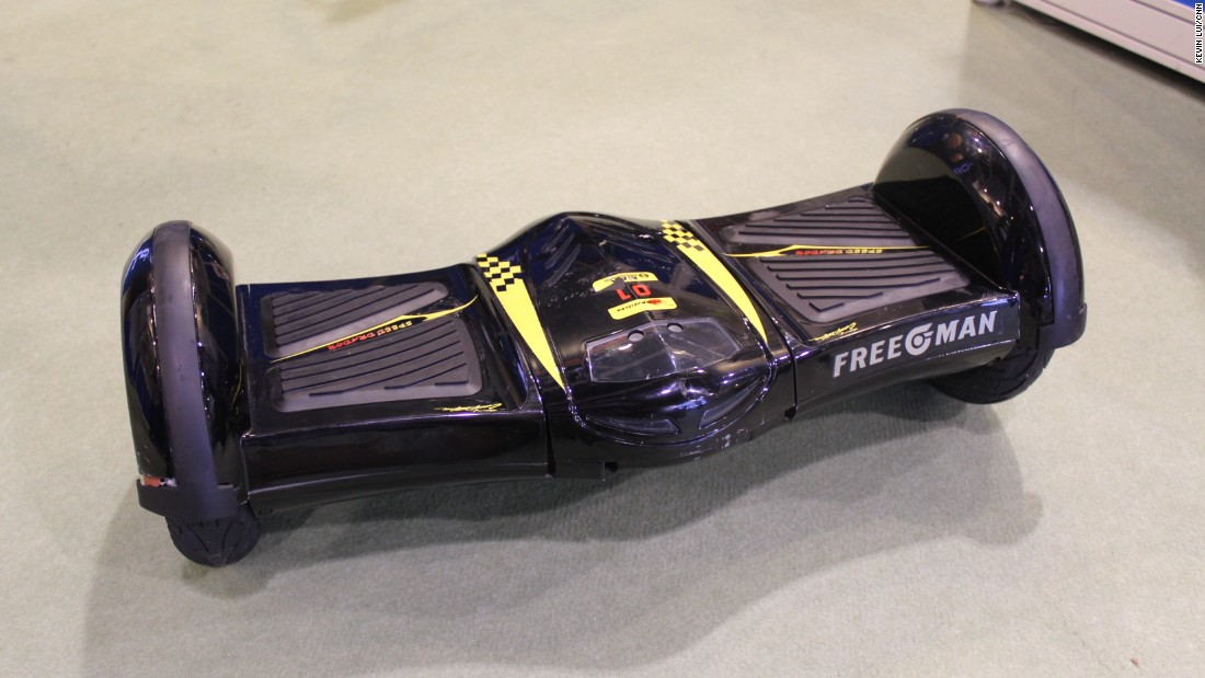 Named the best outdoor and sporting item in the fair, this hoverboard has a Bluetooth speaker built in. However, the maker, E-Supply, says that recent airline bans on passengers bringing hoverboards with them have made some potential customers hesitate.