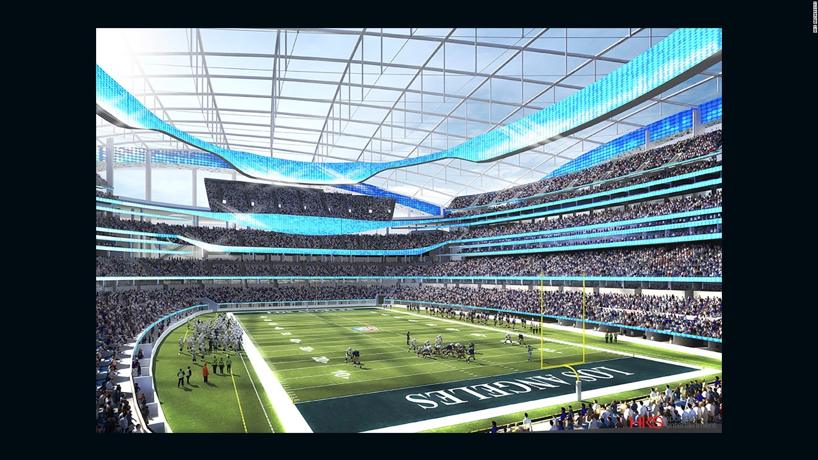 New La Rams Stadium In Inglewood To Be Worlds Most Expensive Cnn Nfl Football Field Diagram Style