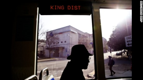 "Jackson Smith Jr. rides the Atlanta Streetcar through downtown. Born and raised in the Sweet Auburn district during the Civil Rights era, Smith has connections to many promanent Atlantans. Martin Luther King Sr aka ""Daddy King"" baptised Smith as a baby and later married him."