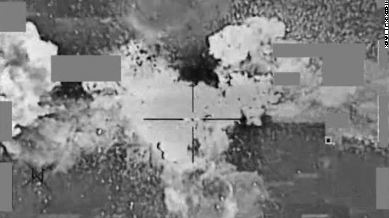 U.S. airstrike on ISIS cash depot sends money into air