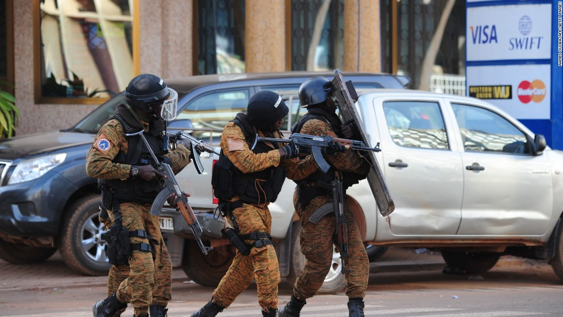 Special police forces conduct operations following the attack.
