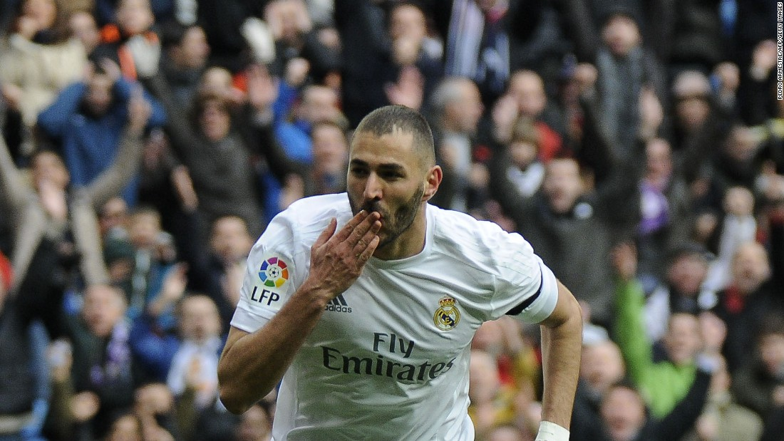 Real Madrid's French forward Karim Benzema carried on his rich scoring form in the 5-1 rout with a double.