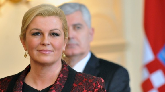 Kolinda Grabar-Kitarovic is the Croatian President. She is the first woman to hold the office.
