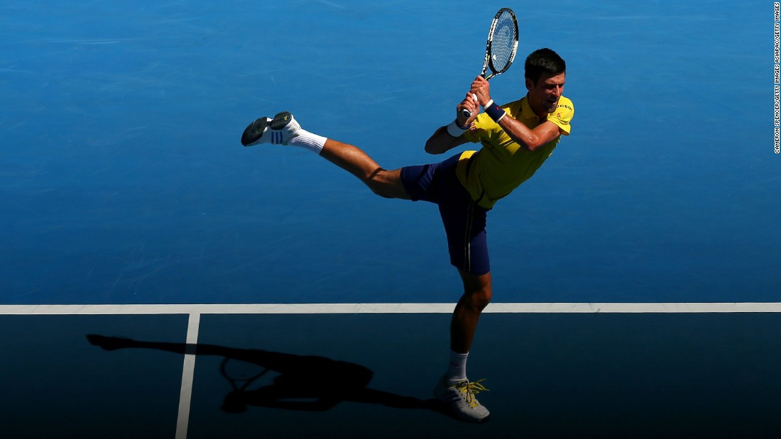 World No. 1 and reigning Australian Open champion Novak Djokovic of Serbia cruised to a straight-sets victory over South Korea's Hyeon Chung.
