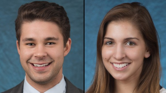 Matt Hutchnson and Kelsey Annese is seen in an undated photo provided by SUNY Geneseo. Three bodies were discovered Sunday, Jan. 17, 2016, near the State University of New York at Geneseo after Geneseo police responded to the home around 6 a.m. Sunday following a 911 call. The dead were identified as 21-year-old Kelsey Annese, of Webster, New York; 24-year-old Matthew Hutchinson, of Vancouver, British Columbia; and 24-year-old Colin Kingston, of Geneseo. Police said Annese and Hutchinson were students at Geneseo and Kingston was a former student. (Keith Walters/SUNY Geneseo via AP)
