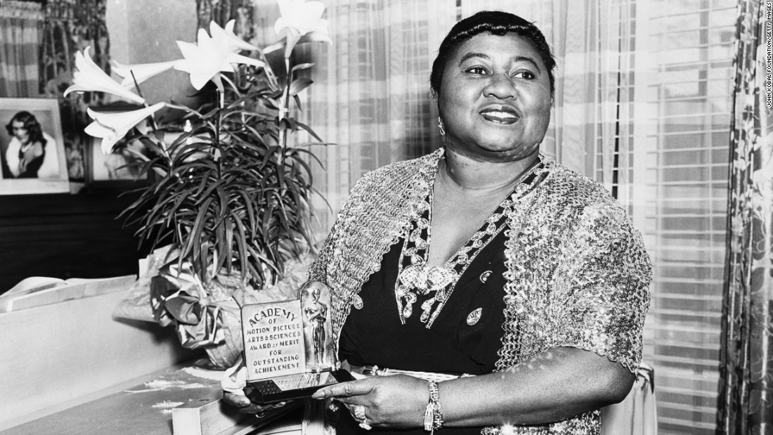 "Hattie McDaniel was the first African-American to win an Academy Award, snagging a best supporting actress Oscar in 1940 for her role as Mammy in ""Gone With The Wind."""