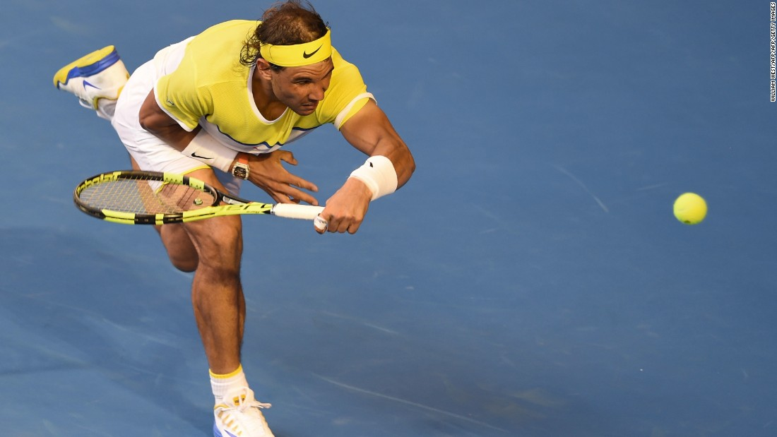 Nadal, who was dumped out of Wimbledon in the second round last year and the third round at the U.S. Open, has not triumphed in a grand slam since 2014's French Open.