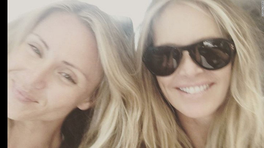 "Model Elle MacPherson, right, <a href=""https://www.instagram.com/p/BAtNM5Kx6vS/"" target=""_blank"">takes a photo</a> with her sister Lizzie on Monday, January 18."