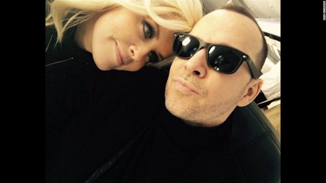 "Actress Jenny McCarthy takes a selfie with her husband, actor Donnie Wahlberg, on Wednesday, January 13. ""Who leaves work in NYC, flies wife home to CHI, tucks her in, turns around & flies right back to work? My #soulmate!"" <a href=""https://www.instagram.com/p/BAfWp6JInxn/"" target=""_blank"">McCarthy said on Instagram.</a>"