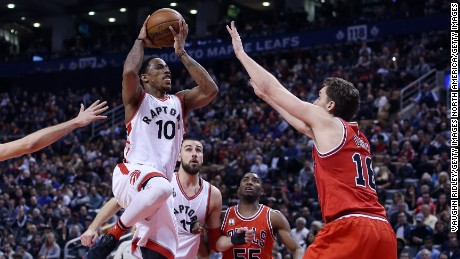Guard DeMar DeRozan will try to advance the Toronto Raptors past the second round of the NBA playoffs for the first time in franchise history.