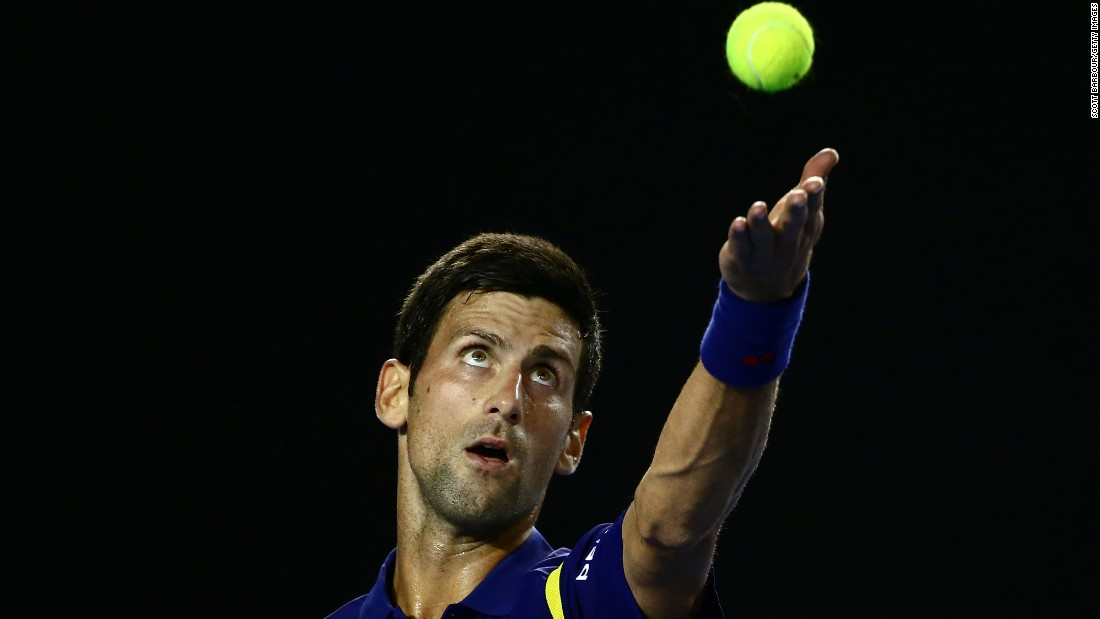 Defending champion Novak Djokovic faced Andreas Seppi of Italy in Friday's night session. The world No. 1 advanced to the last 16 in straight sets, winning 6-1 7-5 6-6 (8-6).