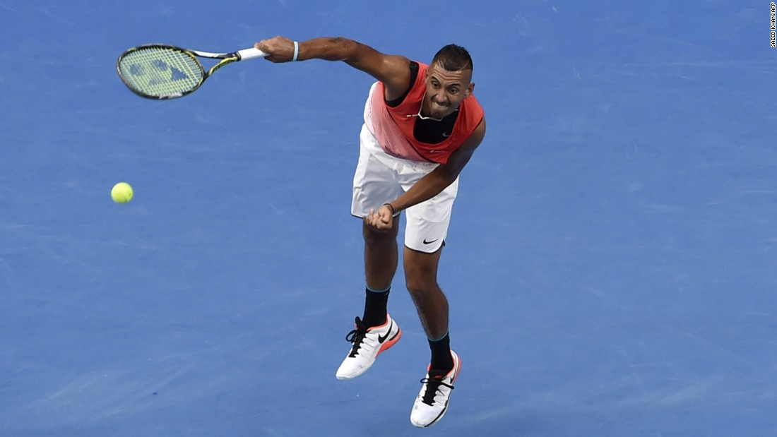 Australian Nick Kyrgios was the talk of day three at the Australian Open on social media -- for his shorts, not his tennis. Kyrgios appeared discomforted and frustrated by the tight white shorts he was wearing.