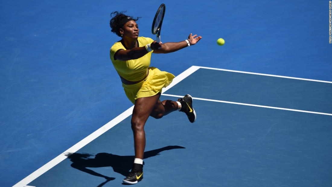 Defending champion Serena Williams motored to an easy victory over Taiwan's Hsieh Su-Wei.