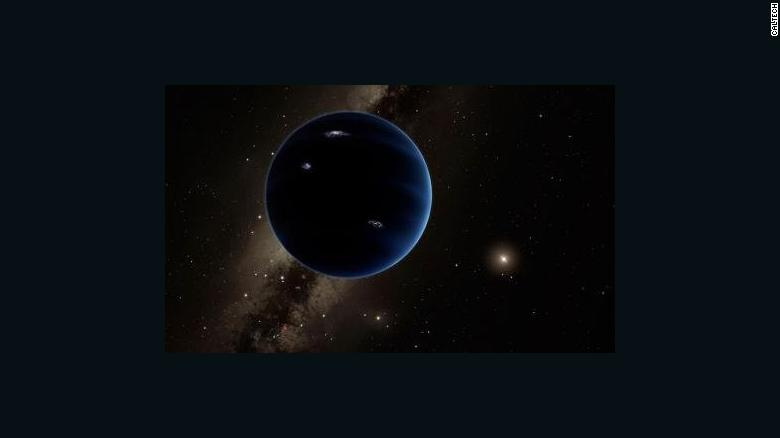 Caltech researchers have found evidence of a giant planet tracing a bizarre, highly elongated orbit in the outer solar system. The object, which the researchers have nicknamed Planet Nine, has a mass about 10 times that of Earth and orbits about 20 times farther from the sun on average than does Neptune (which orbits the sun at an average distance of 2.8 billion miles). In fact, it would take this new planet between 10,000 and 20,000 years to make just one full orbit around the sun. - See more at: http://www.caltech.edu/news/caltech-researchers-find-evidence-real-ninth-planet-49523#sthash.JaLsCJd5.dpuf