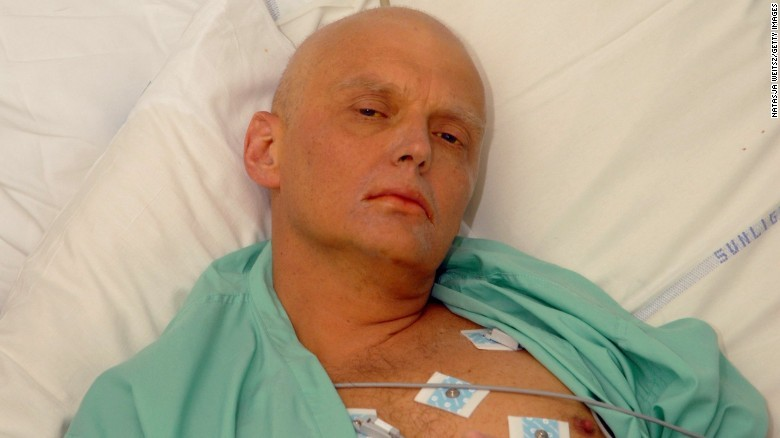 Alexander Litvinenko is pictured in a London hospital on November 20, 2006, three days before his death.