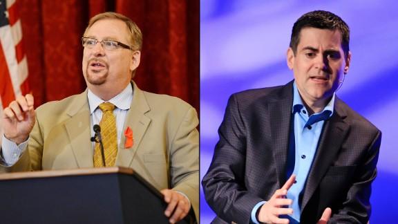 Rick Warren, left, and  Russell Moore represent the institutional evangelicals.