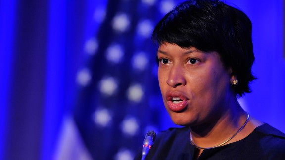Washington, D C mayor Muriel Bowser speaks at the The XX ANOC General Assembly 2015 at the Hilton Hotel on October 29, 2015 in Washington, DC.  (Photo by Larry French/Getty Images for ANOC)