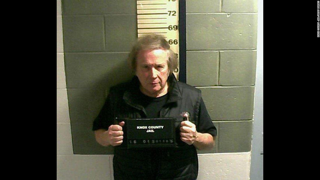 "Singer Don McLean appears in a booking photo after being charged with domestic violence assault on Monday, January 18, at Knox County Jail in Rockland, Maine. McLean is best known for his 1972 hit ""American Pie."""