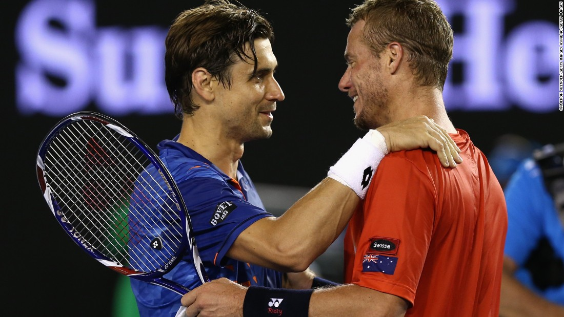 The 34-year-old bowed out of the tournament  -- and the game -- after losing his second round match against David Ferrer. Hewitt was gallant in defeat and embraced his opponent, congratulating him on his victory.