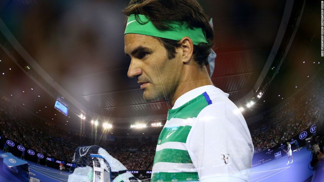 Roger Federer beat Grigor Dimitrov 6-4 3-6 6-1 6-4 under the roof at the Australian Open Friday.