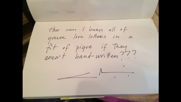 Chef and author Gabrielle Hamilton points out the practical purpose of love letters.