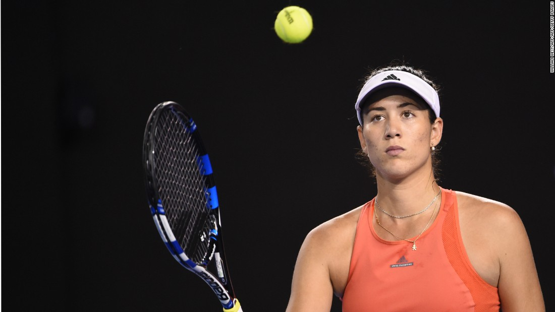 There was a surprise in the women's draw as third seed Garbine Muguruza was defeated by Barbora Strycova of the Czech Republic 6-3 6-2.