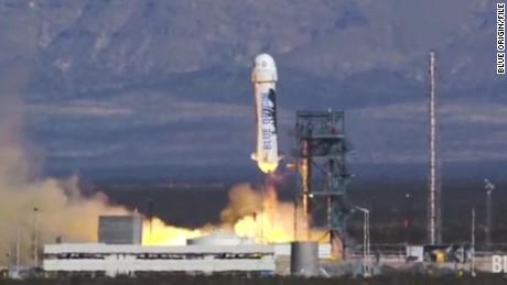 Blue Origin's New Shepard rocket is launched in January.