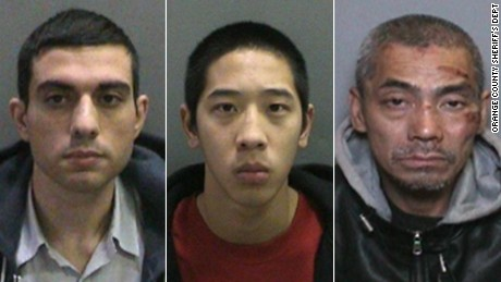 Orange County Sheriff's Department are still searching for three men who escaped from the Orange County Men's Jail on Friday.  The three escapees, from left, are Hossein Nayeri, Jonathan Tieu, and Bac Tien Duong.
