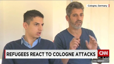 germany refugees react to cologne attack shubert pkg_00005117