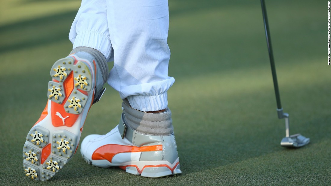 Fowler previously moved golf's fashion needle with his high-top shoes and jogging bottoms at the Abu Dhabi Championship. The golfing fraternity's more traditional elements might have been reaching for the defibrillator at the sight of these.
