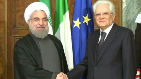Iran's Pres. Rouhani in Italy to start European tour