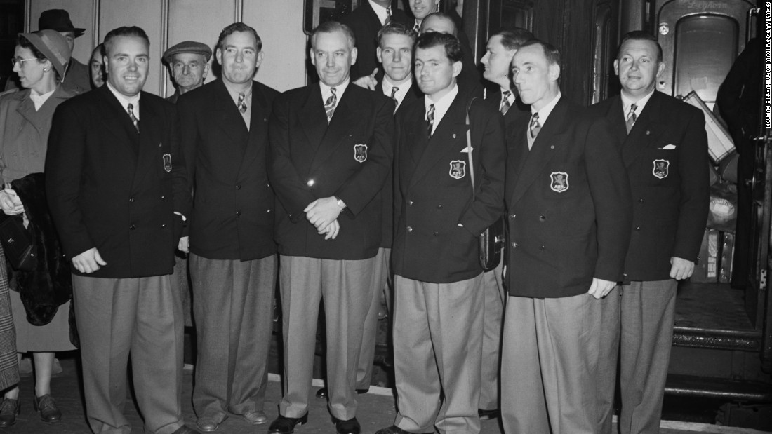 The Ryder Cup has always provided rich pickings for fashion critics - the 1951 British team were no exception with their voluminous trousers.