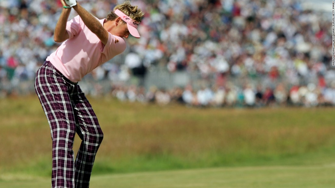 Briton Ian Poulter has made strides in the fashion arena in recent years, often taking us back to the era of Rupert the Bear trousers favoured by Watson in the 1970s.