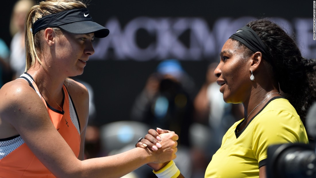 """It's obviously always frustrating,"" Sharapova told reporters of her losing streak against Williams. ""I mean, it's motivating. It's motivating because she's at a different level. That's inspiring."""