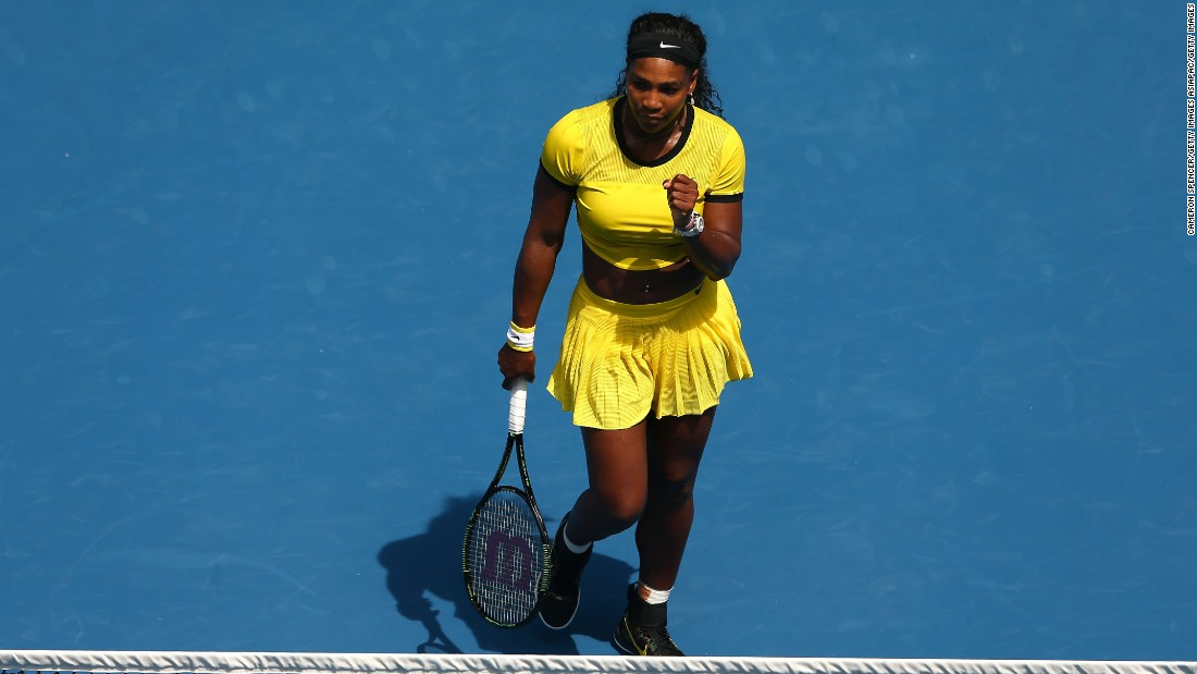 Serena Williams extended her winning streak over Maria Sharapova to a staggering 18 matches following her 6-4 6-1 victory in the Australian Open quarterfinals.