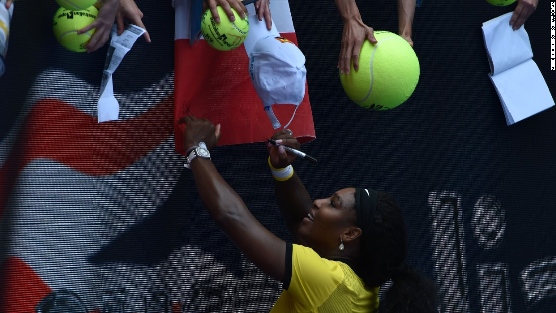 """Something about her game,"" Williams said when asked about her success against Sharapova. ""I like the way she hits the ball. When I play better, when I'm forced to play better, I don't know, I do well."""
