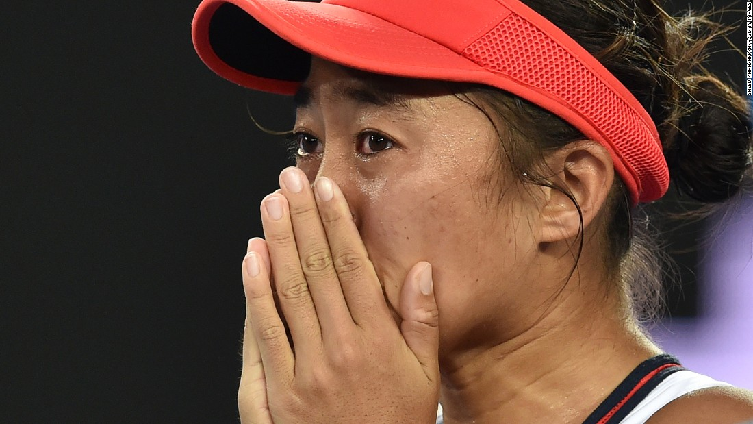 China's world No. 133 has charmed tennis fans after ending an eight-year wait for a win in the main draw of a grand slam.