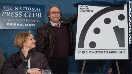 Doomsday Clock stays at three minutes to midnight