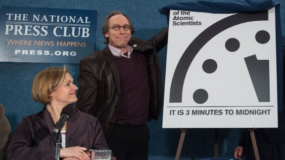 """Lawrence Krauss unveils the """"Doomsday Clock"""" Tuesday, showing that the world is now three minutes away from catastrophe."""