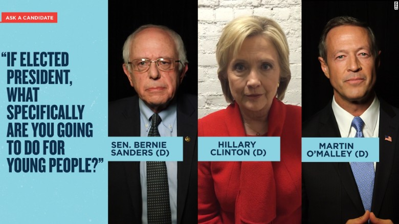 Democratic candidates make their pitch on CNN's Snapchat